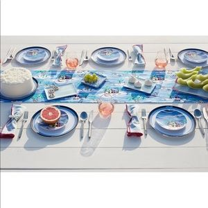 VV for Target Aqua Striped Napkin Set (3 sets)